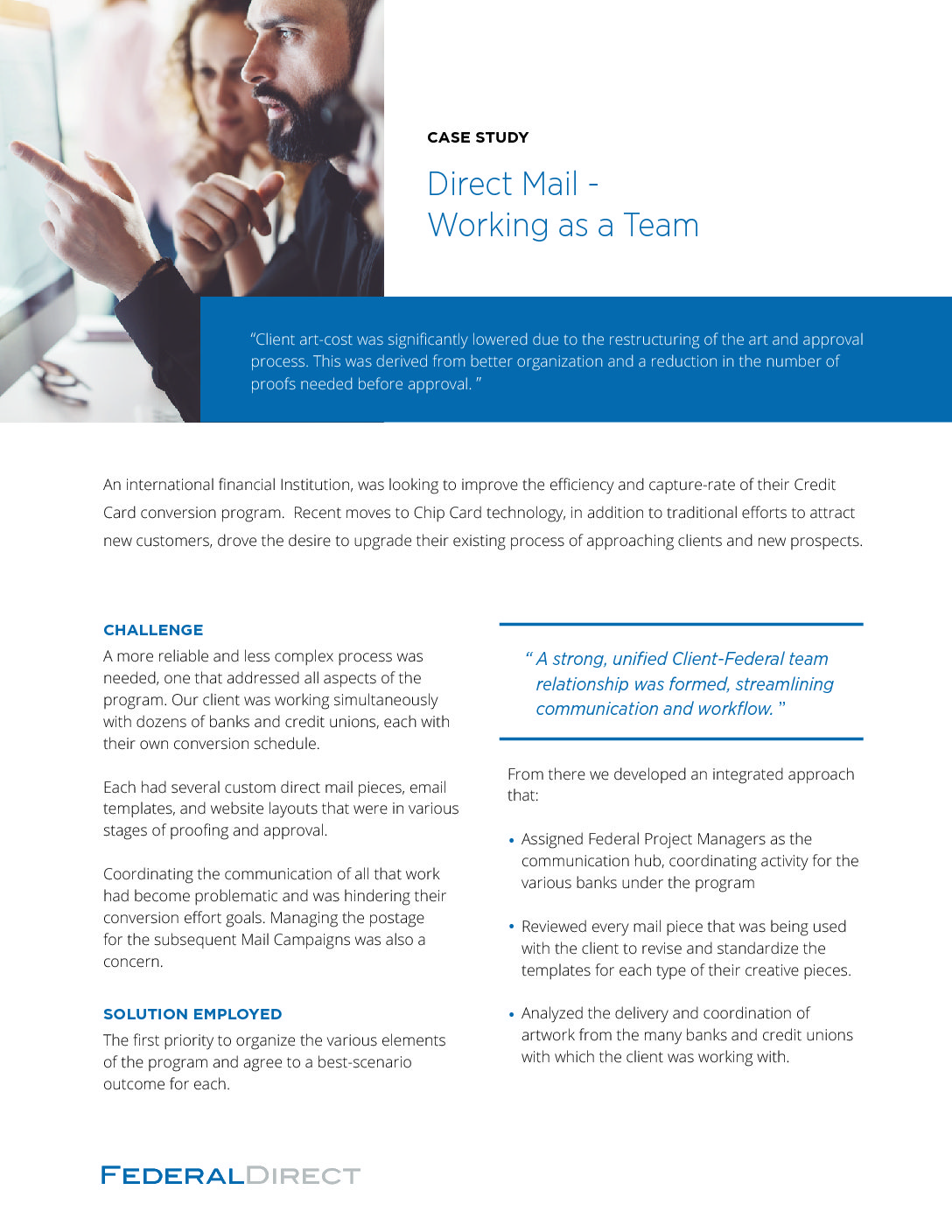 Case Study 4 - Federal Direct